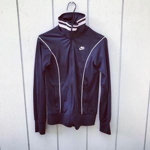 Vintage Nike Sportswear blue striped track jacket